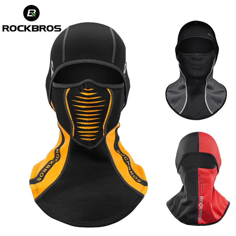 ROCKBROS Winter Thermal Fleece Ski Mask Full Face Cover Snowboard Hood Scarfs Outdoor Sport Windproof Cycling Headgear Balaclava