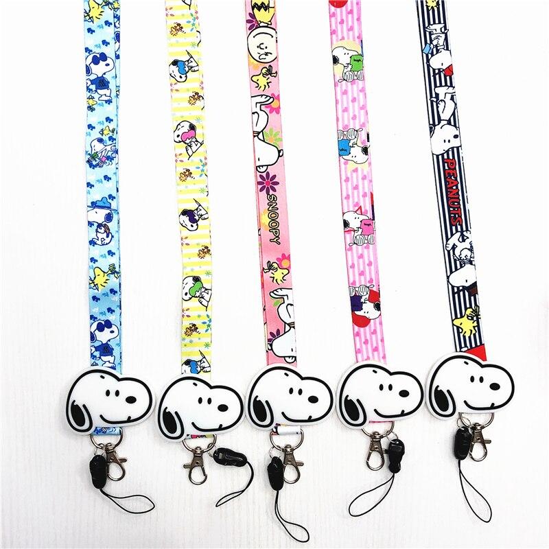 anime cute cartoon pendant neckline lanyard key certificate gym mobile phone with USB badge holder DIY