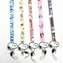 anime cute cartoon pendant neckline lanyard key certificate gym mobile phone with USB badge holder DIY
