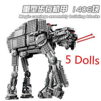 Star Wars First Order Heavy Assault Walker Compatible Star wars 75189  75190 Building Blocks Toys For Child Gifts 10908 05130