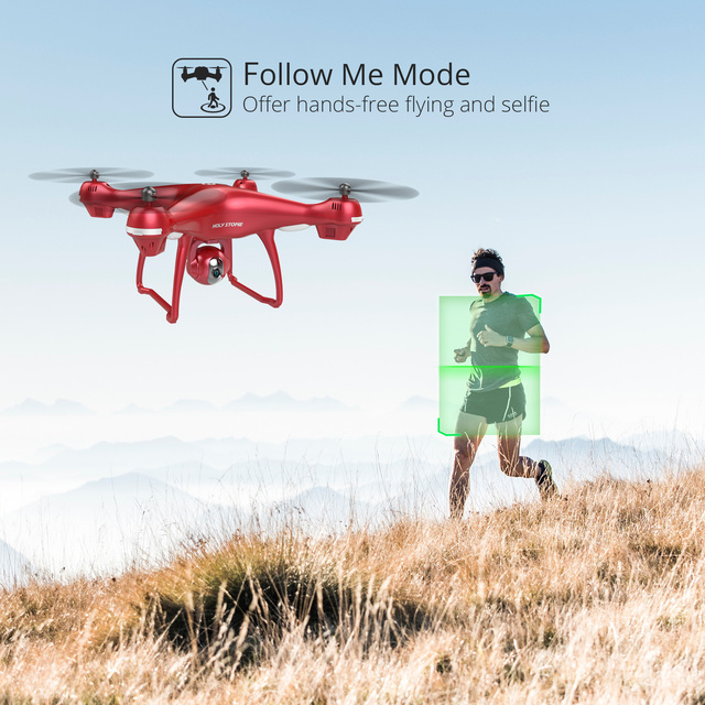 Holy Stone HS100 Red RC Drone GPS Profesional FPV WIFI Camera HD 1080P Selfie RC Quadcopter GPS Drones 500m Quadrocopter Gimbal