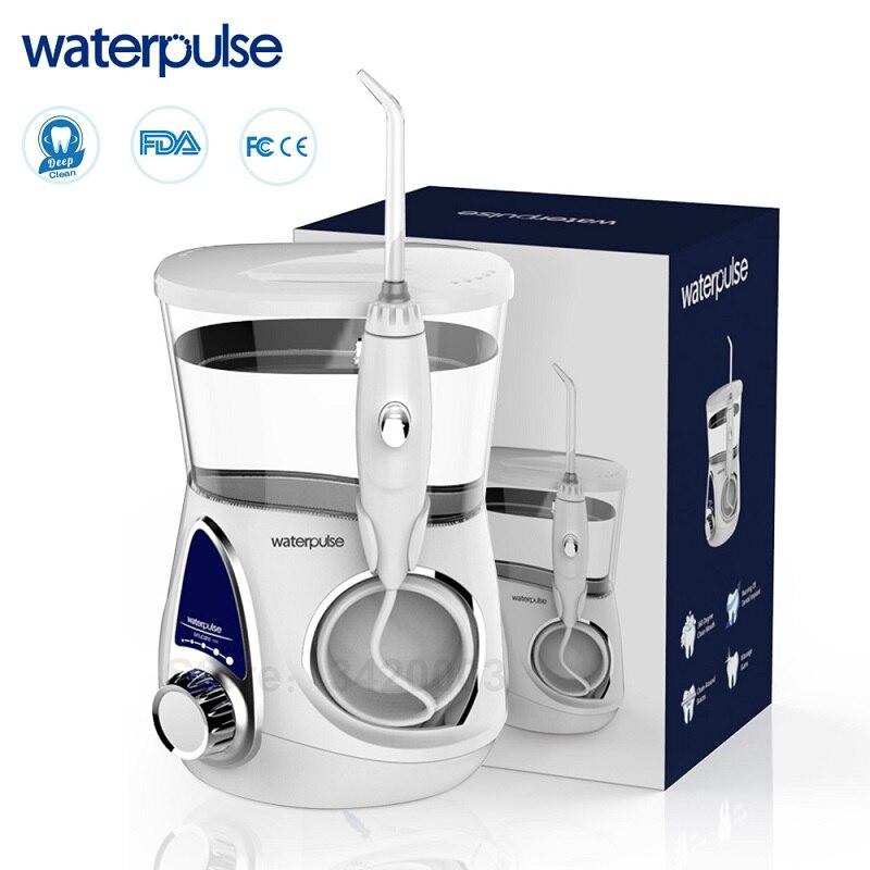 Waterpulse V600 ทันตกรรม Flosser Oral Irrigator น้ำ Flosser 5 หัวฉีด Oral Hygiene 700ML ความจุทันตกรรมฟันทำความสะอาดฟัน-ใน เครื่องชะล้างช่องปาก จาก เครื่องใช้ในบ้าน บน   1