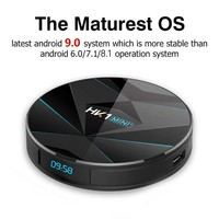 HK1 MINI Plus Quad Core High Definition Dual WiFi Media For Android 9.0 TV Box With Remote Control Digital USB Network Smart