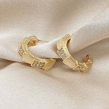 Модные серьги из бамбука в форме змеи для женщин дизайнерские
