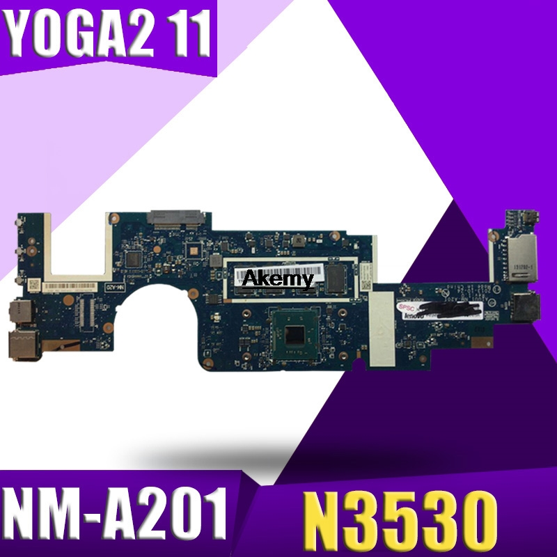 AIUU1 NM-A201 Motherboard For Lenovo Yoga2 11 YOGA 2 11 Laptop Motherboard  N3530 CPU 4G RAM DDR3 100% Test Work