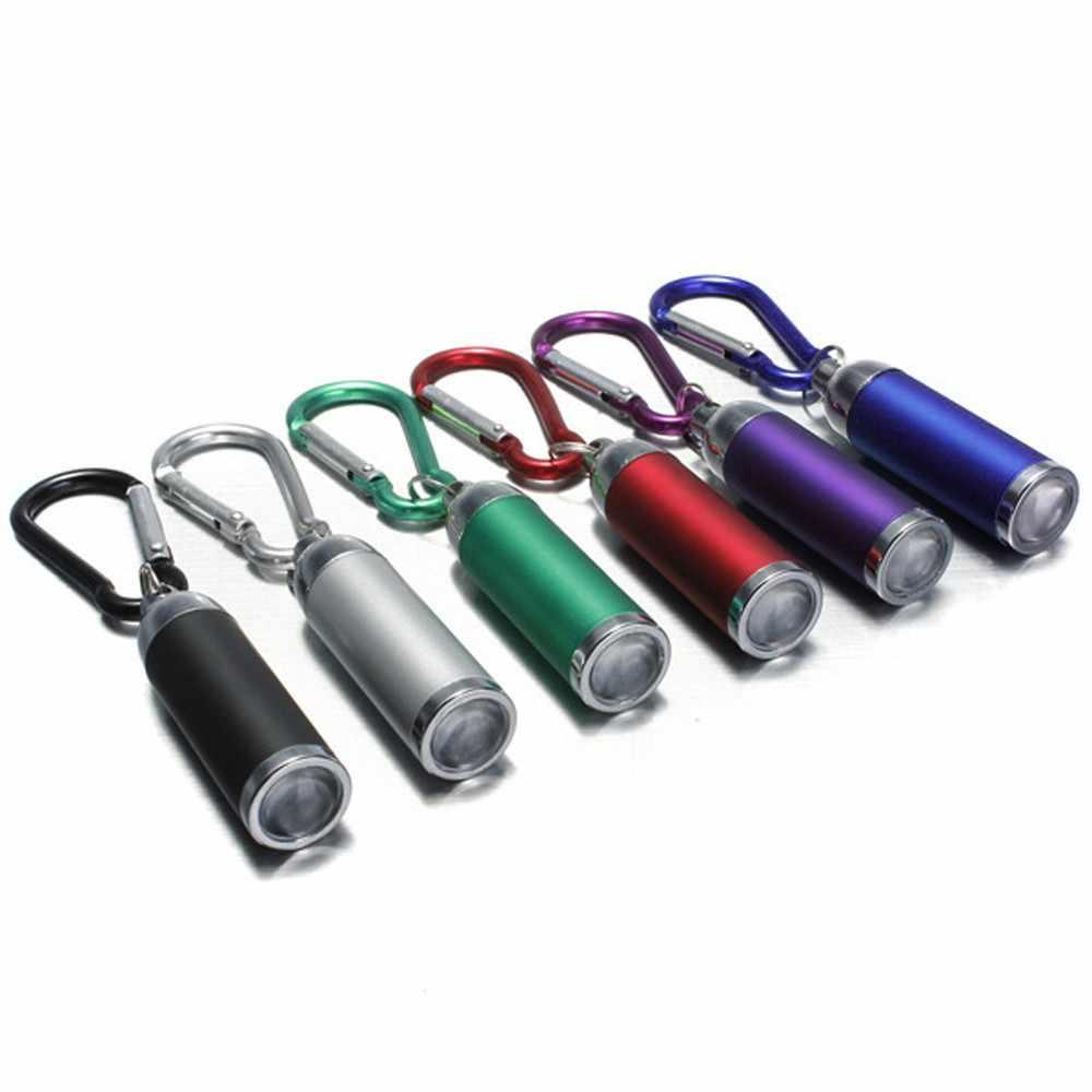 Mini Senter LED Flashlight Mini LED Senter Berkemah Senter Portable Gantungan Kunci Senter LED Senter Obor