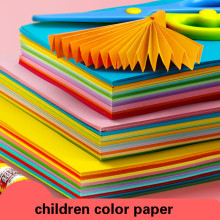 A4 180g Color Paper Multicolor Handmade Origami Paper Thick Cardboard Children DIY Handmade Paper Wrapping Gift Craft Scrapbook
