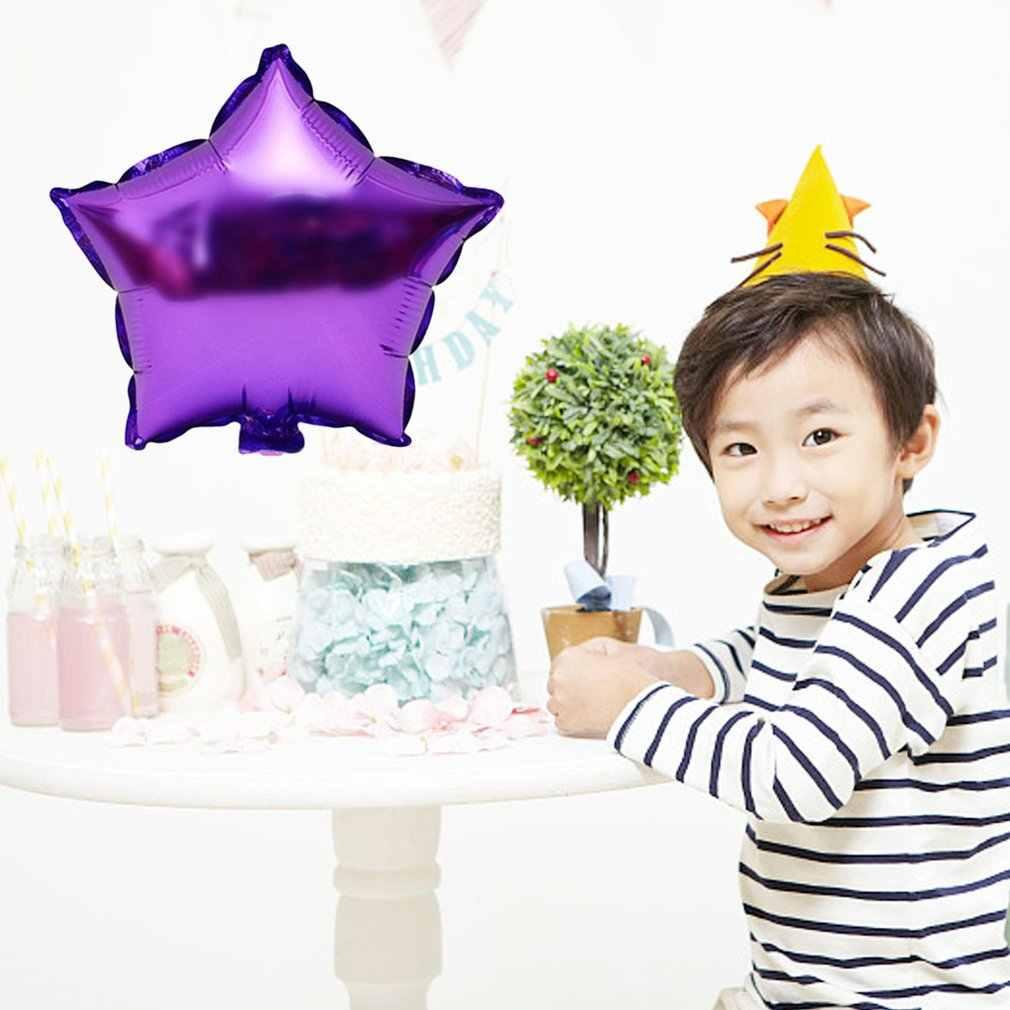 10 polegada Estrela Inflável Balão De Hélio Balão de Casamento Festa de Natal Aniversário Decoração Globos Crianças Presentes do Brinquedo Jogo Ao Ar Livre