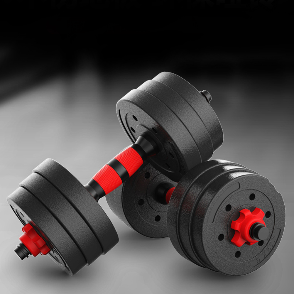 1 Pair Fitness Dumbbells Detachable Dumbbell Arm Muscle Trainer Household Exercise Muscle Workout Supplies Gym Equipment(30kg)