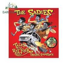 EARLFAMILY 13cm x 13cm etiqueta engomada del coche de la Sadie cuentos de la Rat Fink etiqueta creativa loco modificado de la etiqueta engomada vinilo gráfico Original
