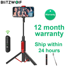 BlitzWolf BW BS10 Portable bluetooth Selfie Stick with Tripod Extendable Foldable Monopod for iPhone 11 X for Huawei for Xiaomi