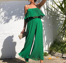 Summer Green Hot Sale Rompers Women Jumpsuit Tassels Sexy Sling Backless Fashion Beach Runway Playsuits Female