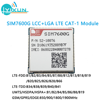 SIMCOM SIM7600G LCC+LGA package Multi-Band LTE-FDD/LTE-TDD/HSPA+ and GSM/GPRS/EDGE LTE CAT-1 module Downlink 10Mbps Uplink 5Mbps