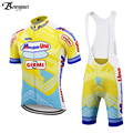 Pro лето Ретро Велоспорт Джерси набор желтый ropa ciclismo hombre одежда для велоспорта наивысшего качества 9D гелевая подкладка MTB Джерси Mercatone UNO