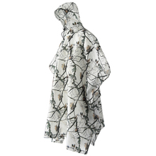 Snow Camouflage Raincoat Backpack Waterproof Raincoat With Hood Hiking Cycling Rainwear Poncho Outdoor Camping Hiking Tent Mat