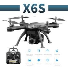 طائرة بدون طيار X6S احترافية بكاميرا 480p/1080p عالية الدقة تعمل بالواي فاي وفرشاة FPV مزودة بمروحة محرك وبطارية طويلة طائرة رباعية بدون طيار تعمل بجهاز تحكم عن بعد
