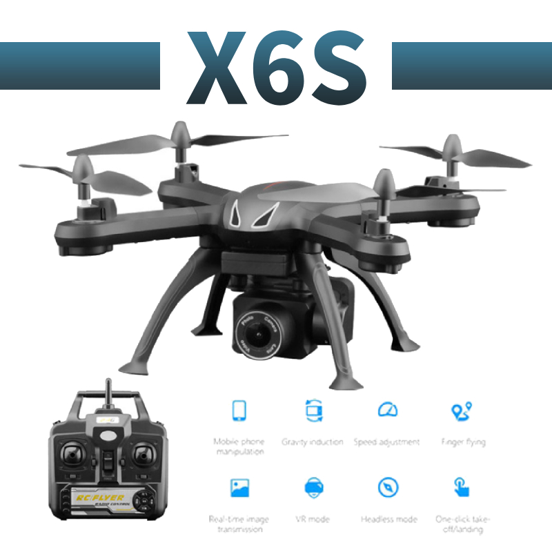 X6S profissional camera drone 480p 1080p HD WiFi FPV Brush motor propeller Long Battery air RC dron Quadcopter