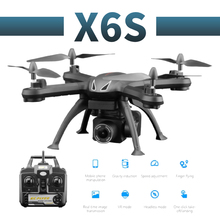 X6S profissional camera drone 480p/1080p HD WiFi FPV Brush motor propeller Long Battery air RC dron Quadcopter