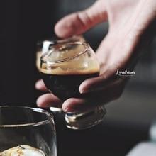 1 шт. 50 мл кофе эспрессо стаканчик барабан тип мини чашка толстое дно стеклянная чашка стакан для виски для бариста