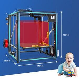 Image 2 - TRONXY büyük DIY 3D yazıcı Cyclops 2 çift renkli ekstruder isı yatak dokunmatik ekran büyük boy 500*500*600mm X5SA 500 2E