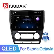 Isudar v72 1 din 4g android rádio automático para skoda octavia 2009 2010 2011 2012 2013 multimídia do carro gps octa núcleo ram 6gb rom 128gb