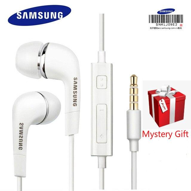 3.5mm fones de ouvido para samsung ehs64 com microfone fone de ouvido microfone embutido no fone de ouvido com fio para smartphones dom gratuito