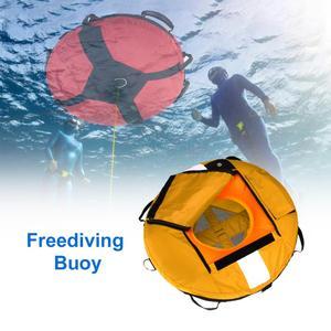 Boya de Freediving de alta visibilidad, flotador de entrenamiento inflable de seguridad para buceo, pesca submarina, buceo, flotador de seguridad