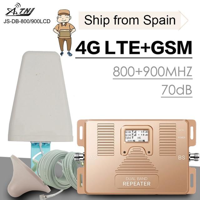 מלא חכם 4G LTE 800 B20 GSM 900 MHz B8 טלפון נייד אותות בוסטרים GSM LTE 4G סלולרי טלפון נייד איתותים משחזר מגבר