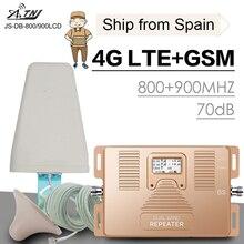 Completa di Smart 4G LTE 800 B20 GSM 900 MHz B8 Mobile Ripetitore Del Segnale Del Telefono GSM LTE 4G Cellulare telefono Cellulare Ripetitore di Segnale Amplificatore