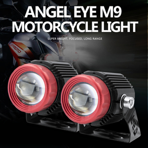 Muxall Universal Car Motorcycle LED Projector Lens Work Spotlights White Yellow Headlight High Low Beam Mini Fog Lamp Waterproof