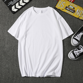 2019 New Fashion Solid color T Shirt Mens Black And White 100% cotton T-shirts Summer Skateboard Tee