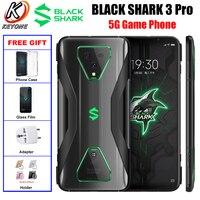 Global Version Xiaomi Black Shark 3 Pro 5G Game Mobile Phone 7.1 RAM 12GB 256GB Snapdragon865 60MP 5000mAh Android10 Smartphone