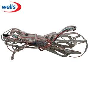 50x предварительно припаянный WS2812B светодиодный радиатор 5 в 5050 RGB WS2811 IC встроенный и 10 см провод