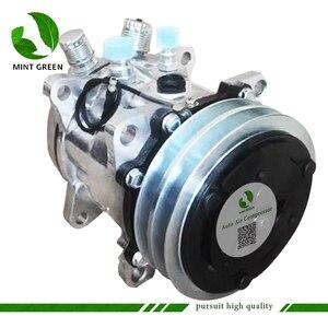 Image 2 - Sanden 505 SD505 5h14 Auto AC Compressor for Tractor Excavator Heavy Duty Truck 12V / 24V 2 Groove V Blet Pulley