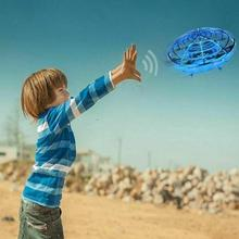 BLUE UFO Flight Simulator Self Avoidance Hand Operated Drone Rc Remote Control Racing Multidirectional Aircraft Induction Toy usb dongle rc flight wireless simulator blue