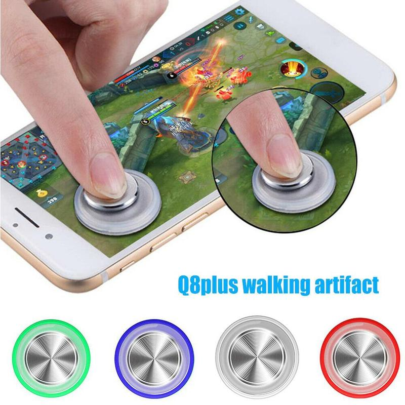 Round Game Joystick Metal Button Mobile Controller Mini Screen Joystick Suction Cup Clip-on Clamp For Smartphone Tablet