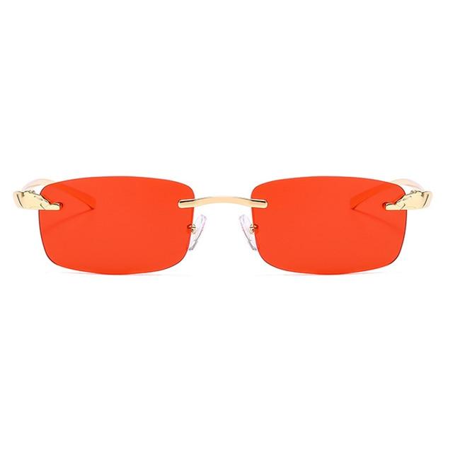 2020 Fashion Rectangle Sunglasses Women Rimless Small Lens Sunglasses Classical Alloy Metal Sun Glasses Men UV400 4