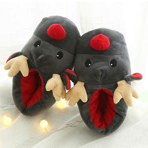 Deer Slippers Shoes Couple Winter Animal Prints Christmas Plush Soft Cartoon Cotton Cute