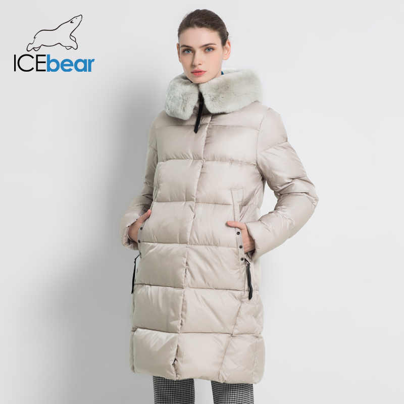 2019 New Winter Women's Jacket High Quality Rex Rabbit Fur Collar Female Coats Fashion Woman Jackets Thickened Women GWD18267