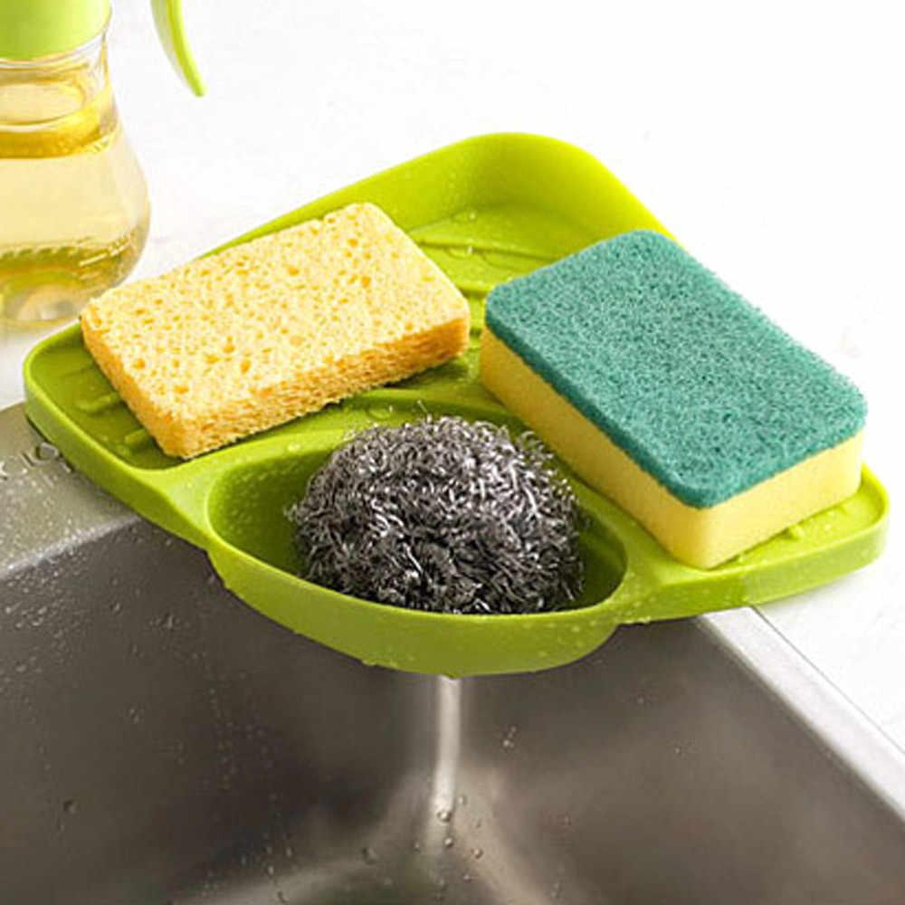 Nuevo fregadero de cocina estante de almacenamiento de esquina soporte de esponja de pared platos de goteo plato de jabón estante de almacenamiento de pared estantería de baño 906