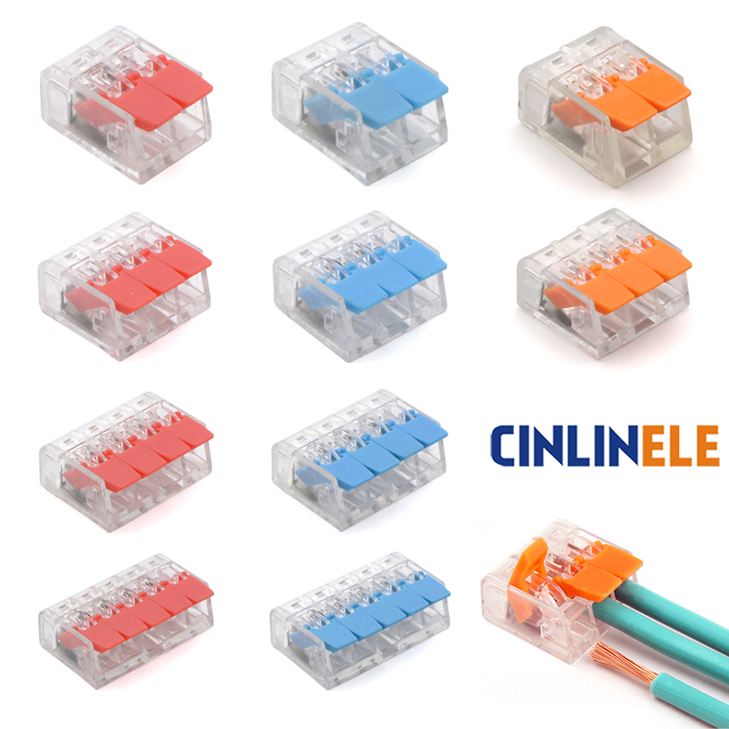 (30&50Pieces) Lever Nuts-3 New style compact Splicing Connectors Quick Disconnect Wire Connectors AWG 24-12