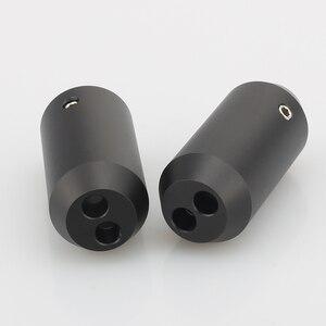 Image 5 - 4pcs HIFI אודיו מכנסיים Y ספליטר RCA כבל רמקול כבל חוט מכנסיים alluminium 12mm כדי 2*5mm אתחול