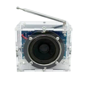 Bricolage son FM Radio 2W 4.5V-5.5V cadeau 8ohm Transparent pratique stéréo Mini numérique avec coque récepteur haut-parleur électronique Kit