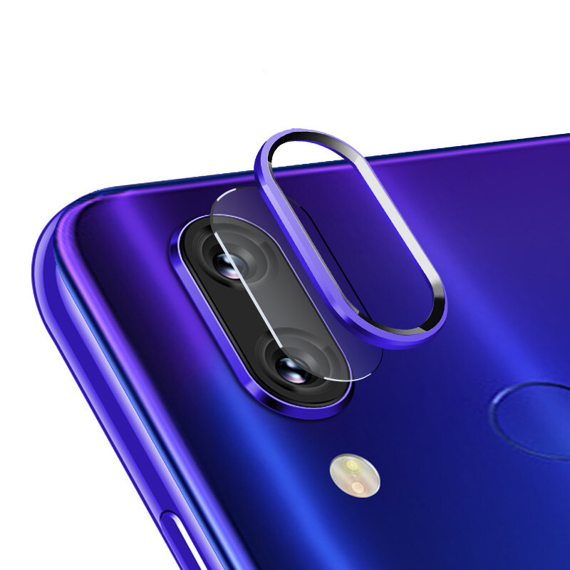 Camera Protector Metal Ring For Xiaomi Redmi Note 7 Note7 Pro Camera Glass Redmi Note 7 Pro Camera Lens Tempered Glass Protector