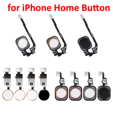 Aokin for iPhone 5 5C 5S 6 6Plus 6s plus 7 7Plus Home Button with Flex Cable Assembly Replacement Mobile Phone Parts