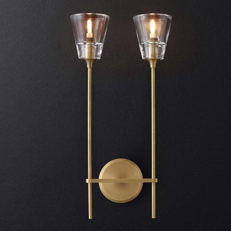 Linha tubo de ferro nórdico moderno conduziu a lâmpada parede cabeceira luz da noite quarto sala estar corredor arandela luminária decoração da parede arte