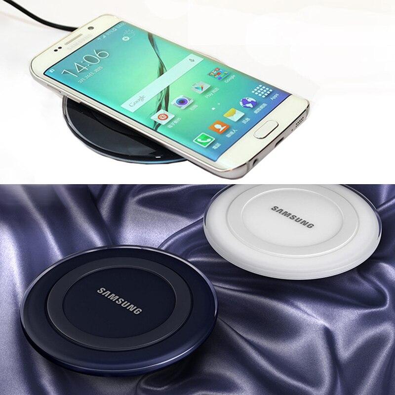 Оригинальное Беспроводное зарядное устройство Samsung адаптер qi зарядная площадка для Galaxy S7 S6 EDGE S8 S9 S10 Plus Note 4 5 для Iphone 8 X XS XR mi 9-3