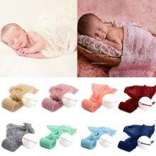 Эластичная трикотажная мохеровая повязка для фотосъемки новорожденных