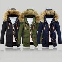 2019 New winter jacket men Casual Warm Parka Men coat Fashion Detachable Fur Hooded Mens Jackets and Coat Veste Homme Plus Size