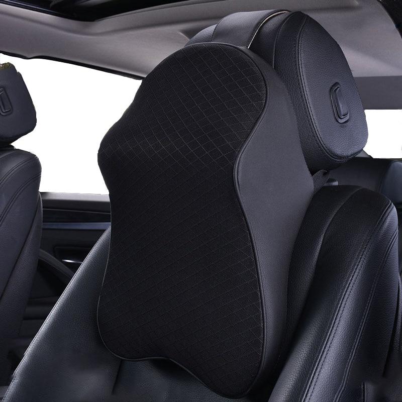車の首枕調節可能なヘッド拘束3D低反発自動ヘッドレストトラベル枕ネックサポートホルダーシートカバーは、